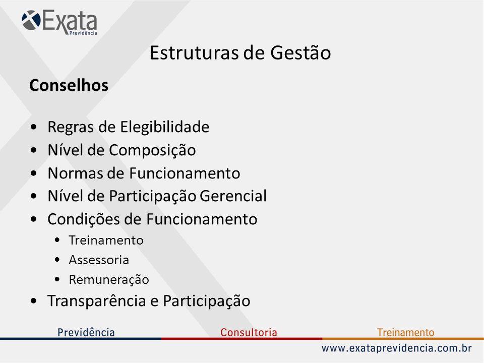 Estruturas de Gestão Conselhos Regras de Elegibilidade