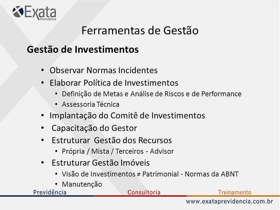Ferramentas de Gestão Gestão de Investimentos