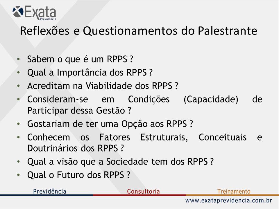 Reflexões e Questionamentos do Palestrante