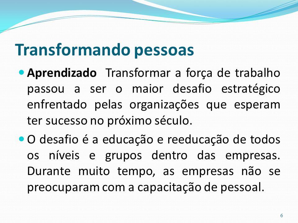 Transformando pessoas