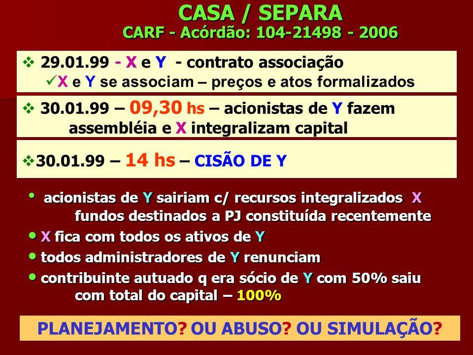 CASA / SEPARA CARF - Acórdão: 104-21498 - 2006