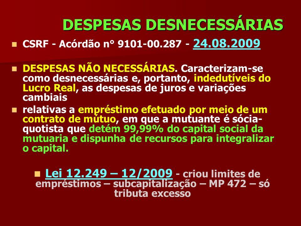 DESPESAS DESNECESSÁRIAS