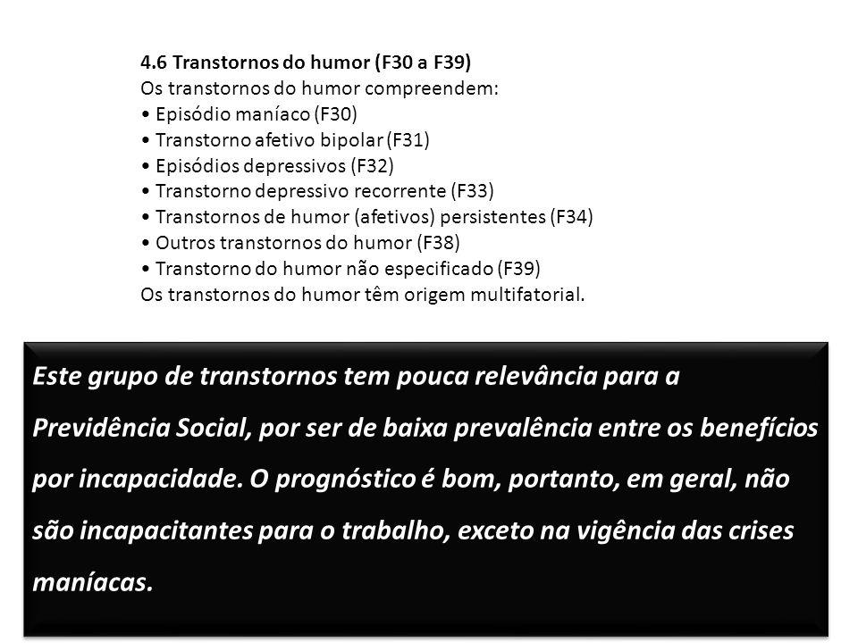 4.6 Transtornos do humor (F30 a F39)