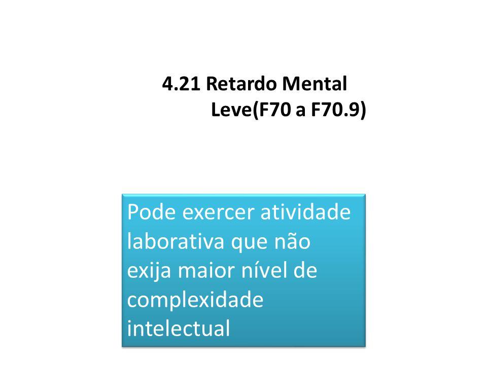 4.21 Retardo Mental Leve(F70 a F70.9)