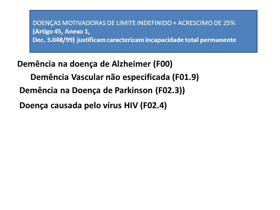Demência na doença de Alzheimer (F00)