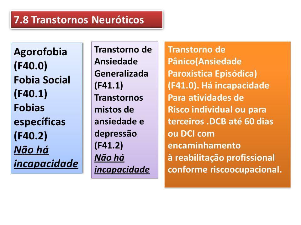 7.8 Transtornos Neuróticos