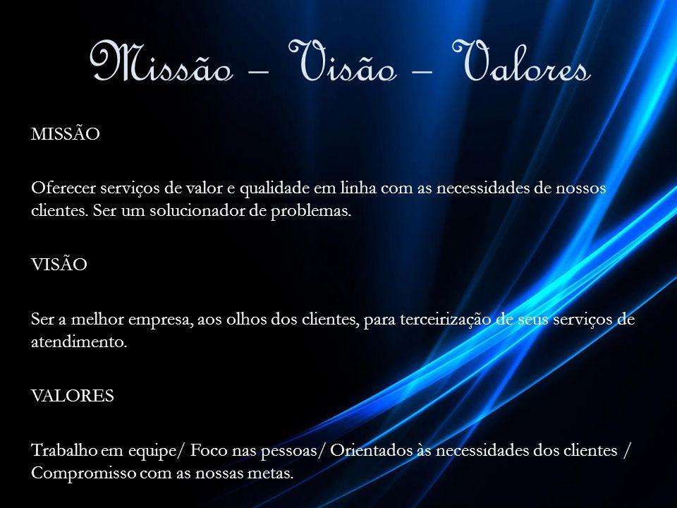 Missão – Visão – Valores