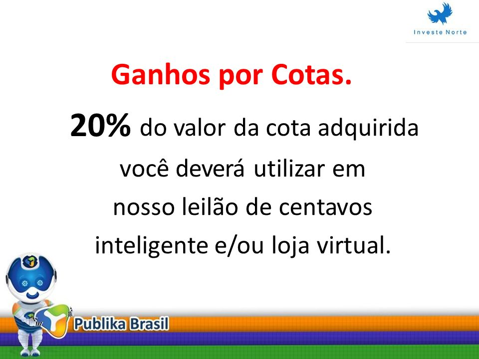 20% do valor da cota adquirida