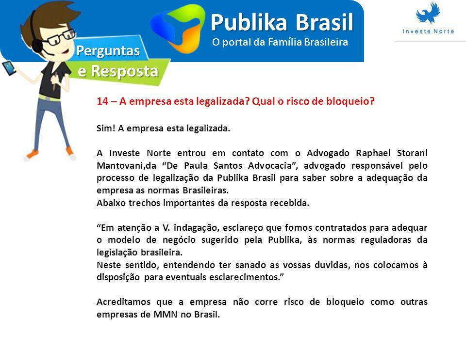 Publika Brasil e Resposta Perguntas O portal da Família Brasileira