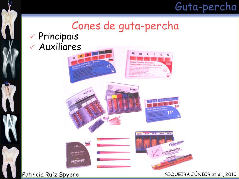 Guta-percha Cones de guta-percha Principais Auxiliares