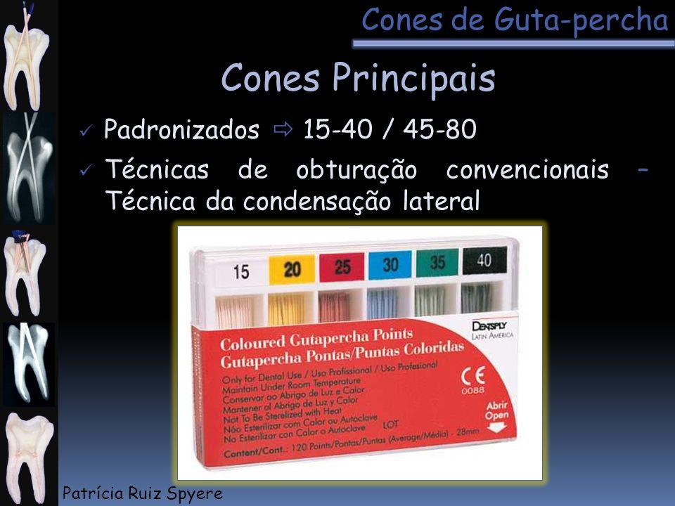 Cones Principais Cones de Guta-percha Padronizados  15-40 / 45-80