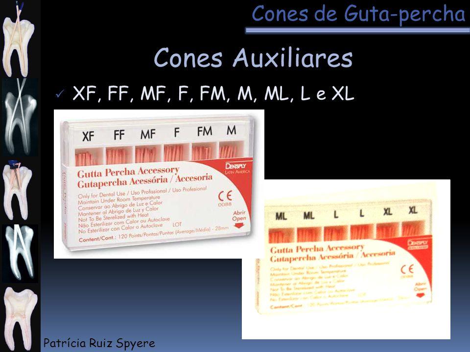 Cones Auxiliares Cones de Guta-percha XF, FF, MF, F, FM, M, ML, L e XL