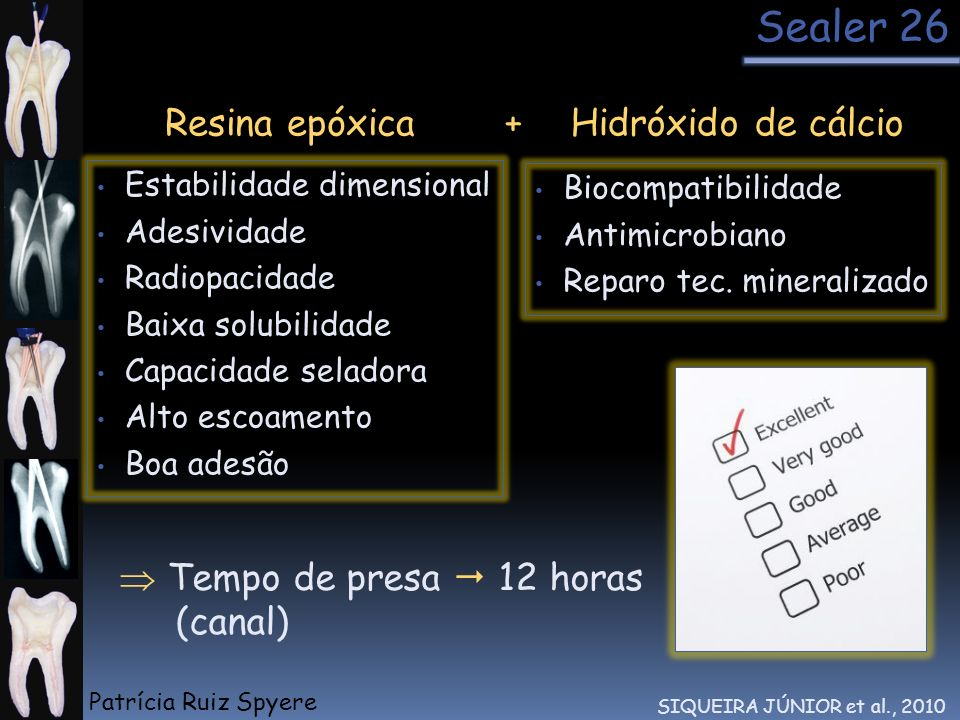 Sealer 26 Resina epóxica + Hidróxido de cálcio