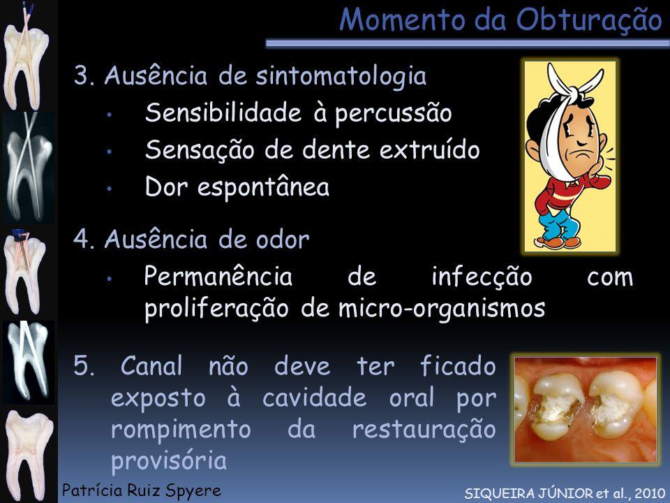 Momento da Obturação 3. Ausência de sintomatologia