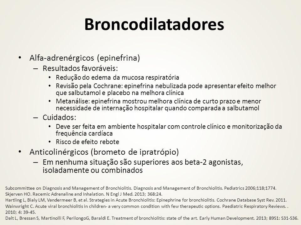 Broncodilatadores Alfa-adrenérgicos (epinefrina)