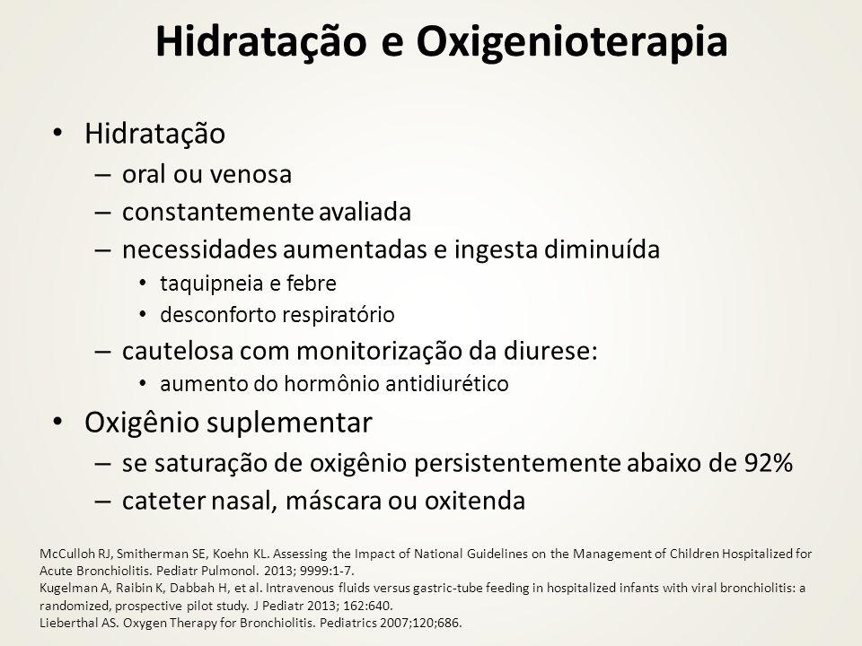 Hidratação e Oxigenioterapia