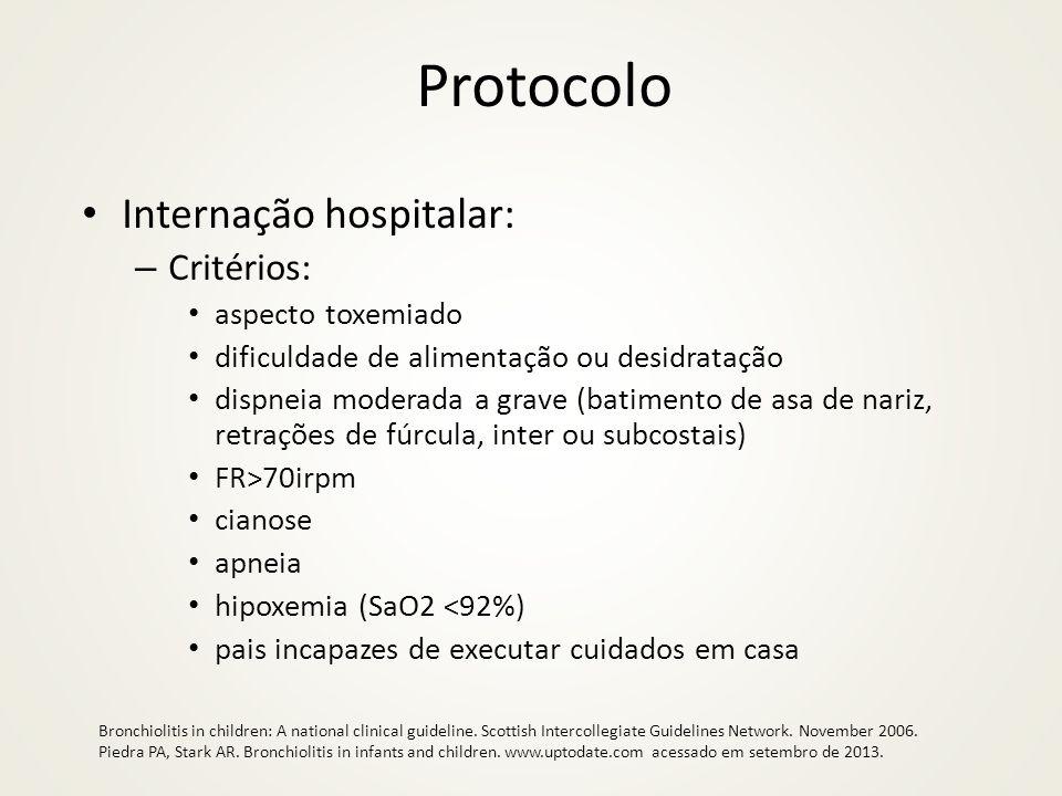 Protocolo Internação hospitalar: Critérios: aspecto toxemiado