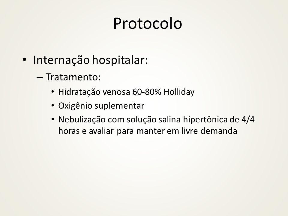 Protocolo Internação hospitalar: Tratamento: