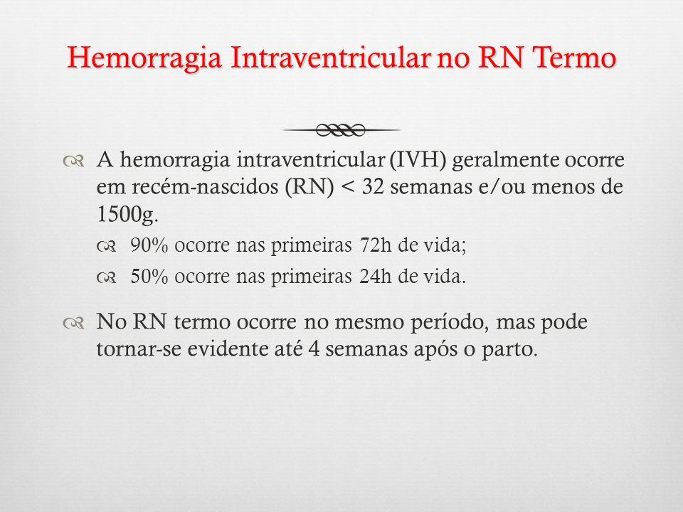 Hemorragia Intraventricular no RN Termo