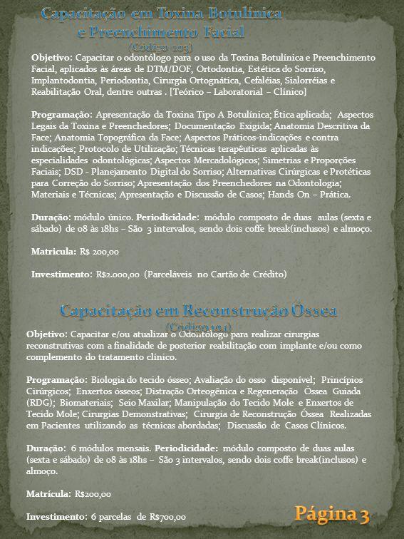 Página 3 Capacitação em Reconstrução Óssea