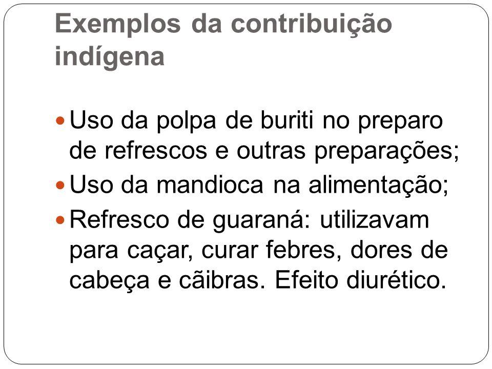 Exemplos da contribuição indígena