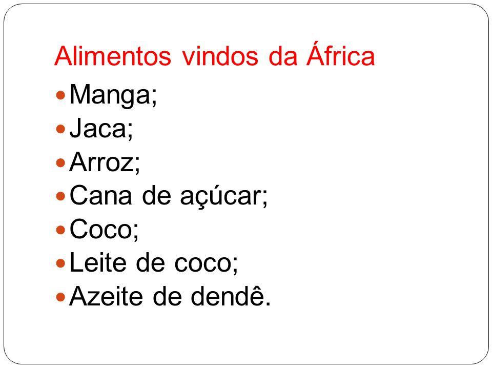 Alimentos vindos da África