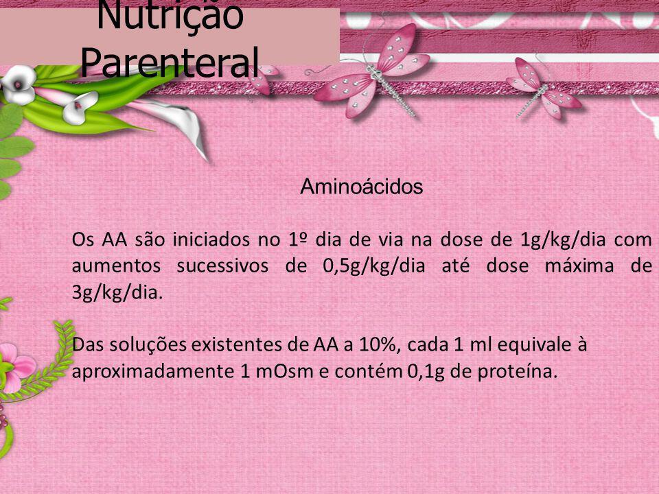 Nutrição Parenteral Aminoácidos