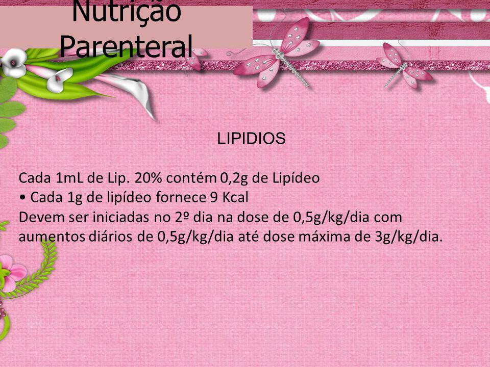 Nutrição Parenteral LIPIDIOS