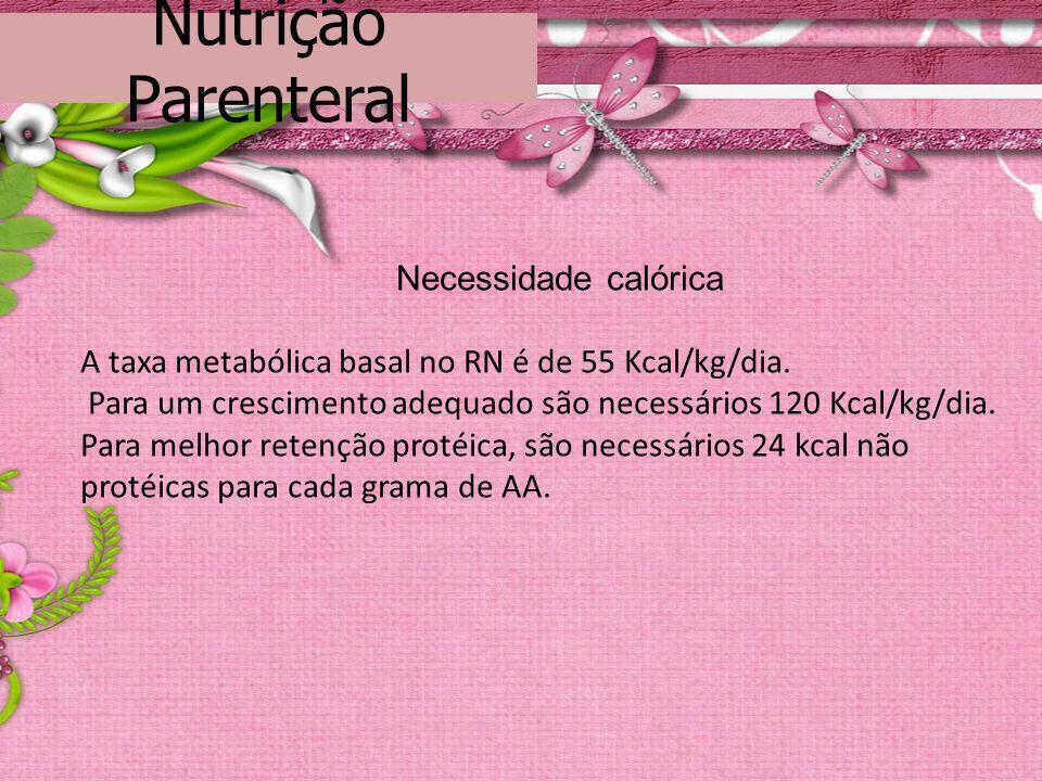 Nutrição Parenteral Necessidade calórica