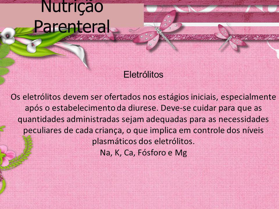 Nutrição Parenteral Eletrólitos