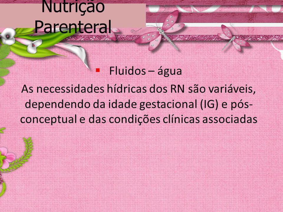 Nutrição Parenteral Fluidos – água