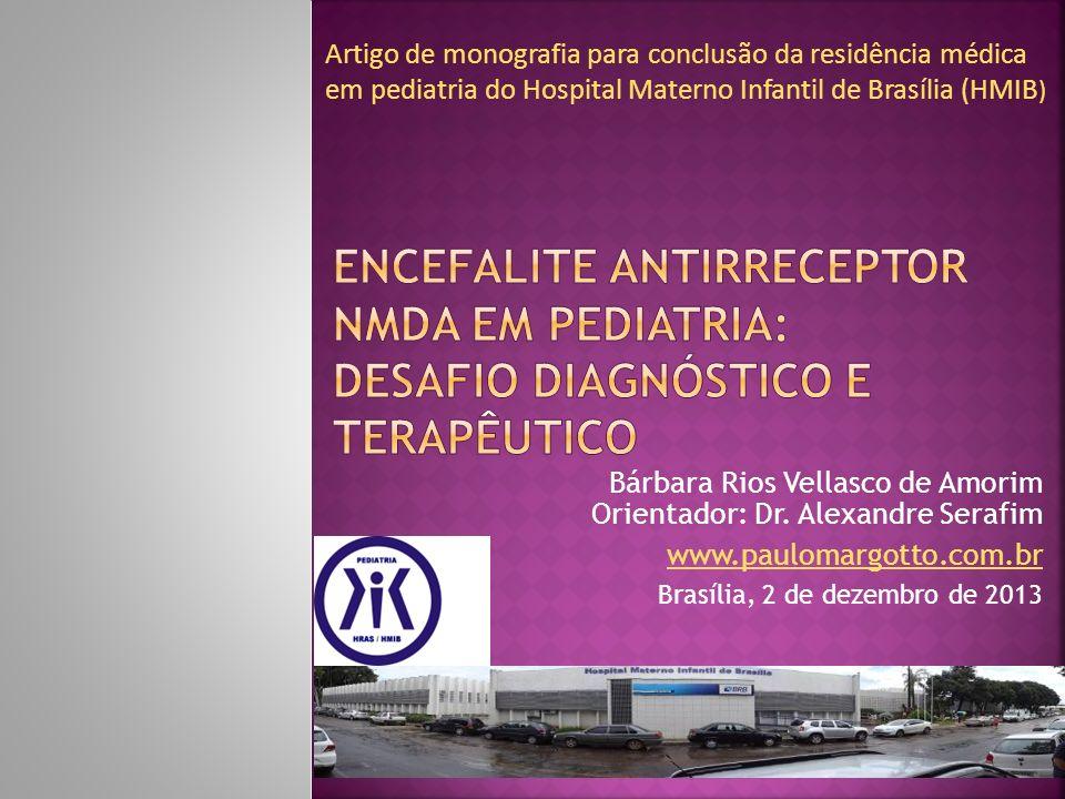 Artigo de monografia para conclusão da residência médica em pediatria do Hospital Materno Infantil de Brasília (HMIB)