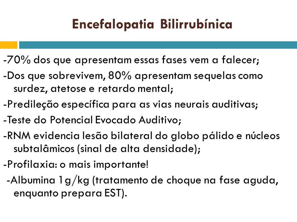 Encefalopatia Bilirrubínica