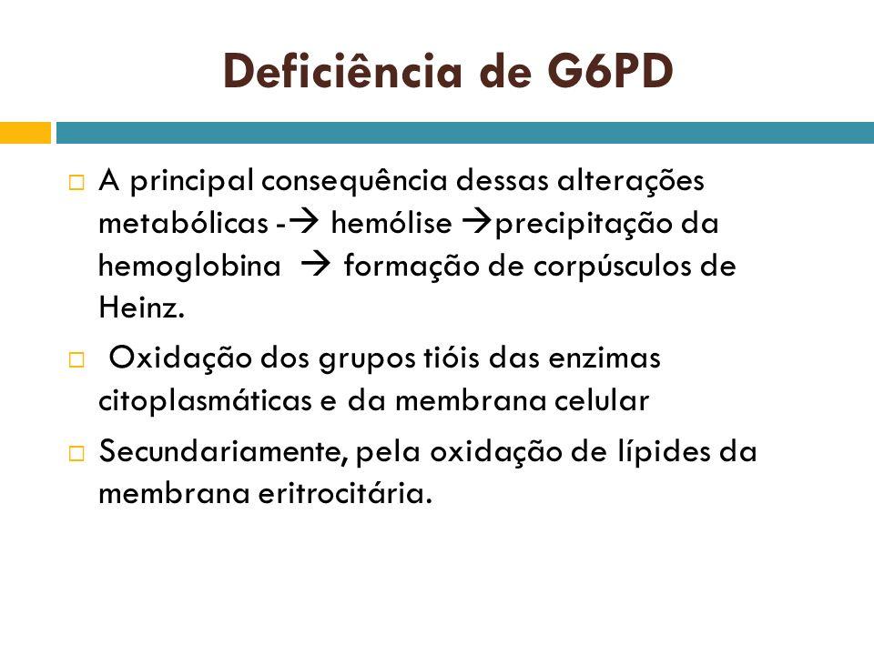 Deficiência de G6PD