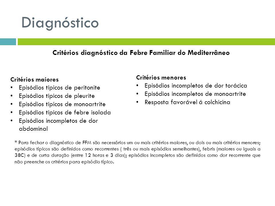 Critérios diagnóstico da Febre Familiar do Mediterrâneo