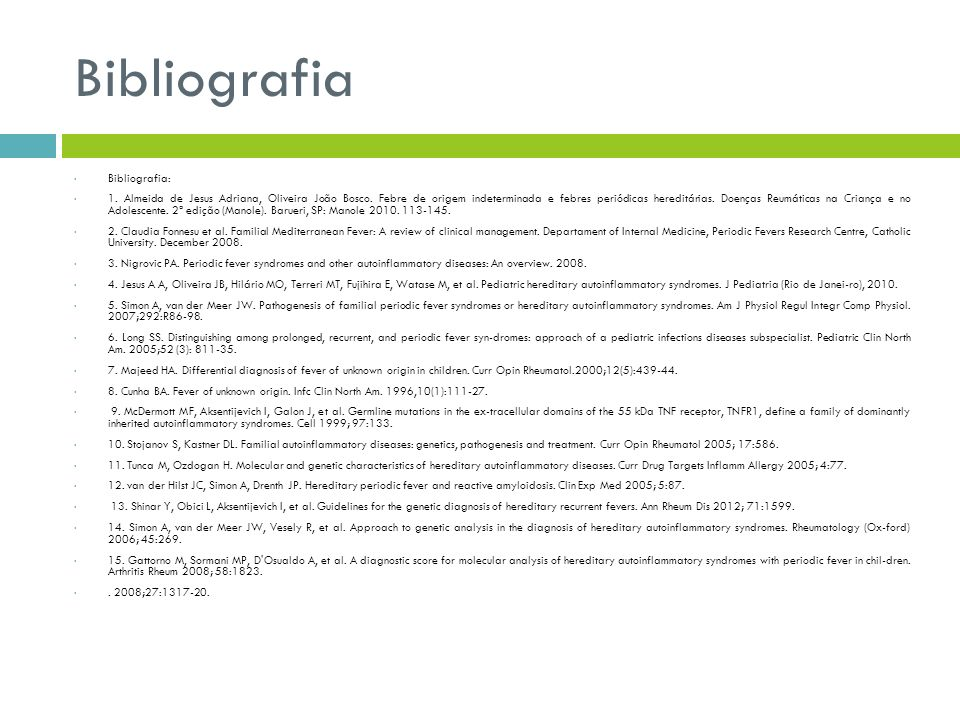 Bibliografia Bibliografia: