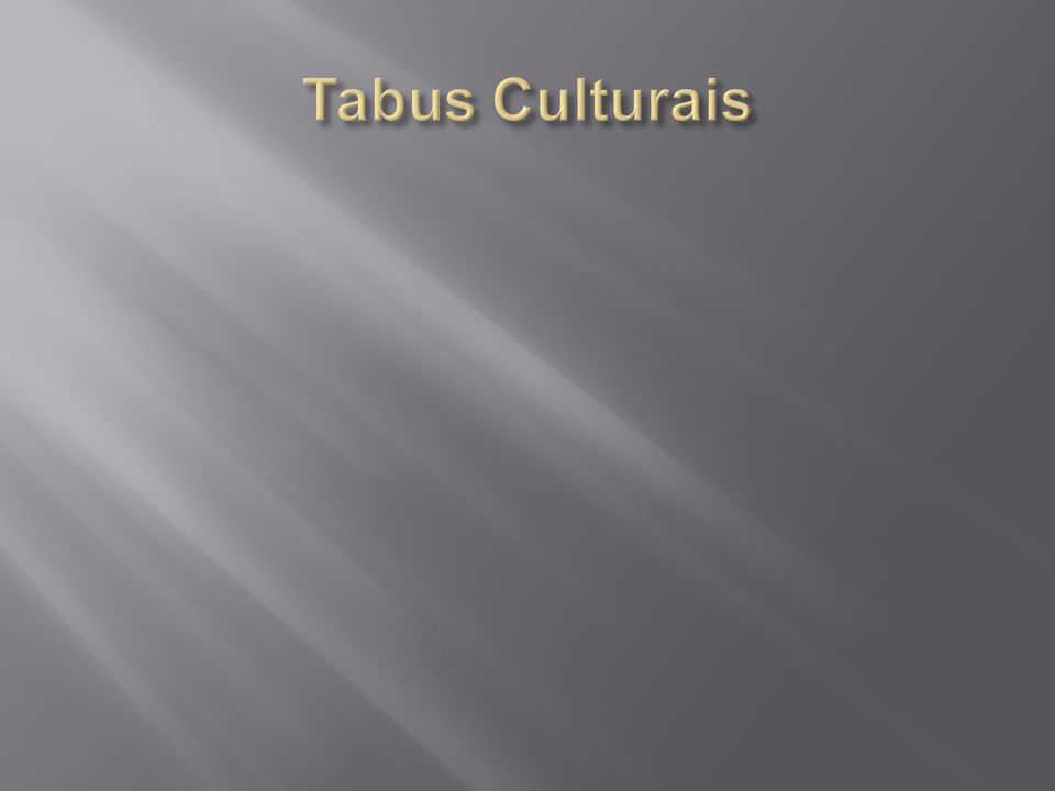 Tabus Culturais