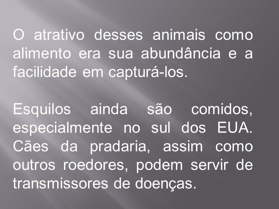 O atrativo desses animais como alimento era sua abundância e a facilidade em capturá-los.