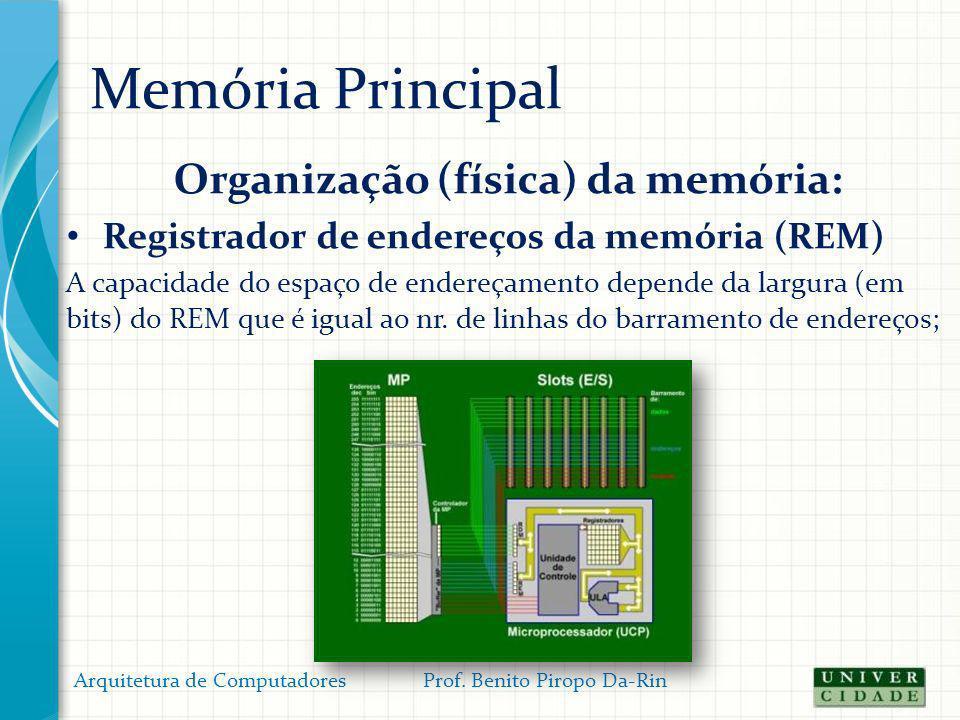 Organização (física) da memória: