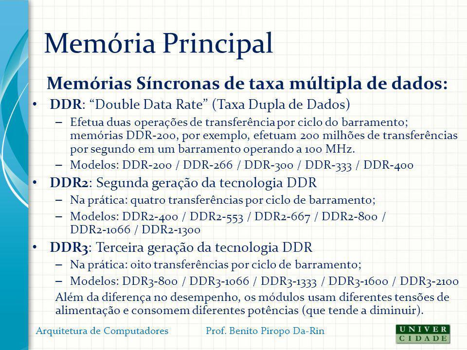 Memórias Síncronas de taxa múltipla de dados: