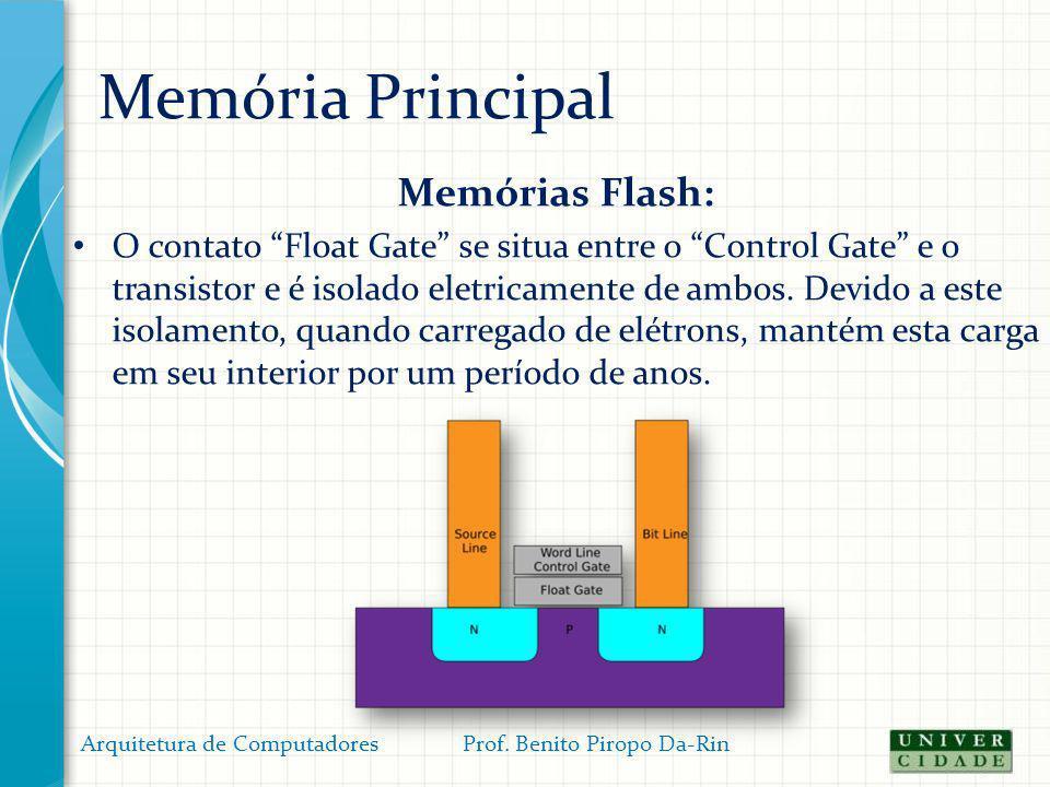 Memória Principal Memórias Flash: