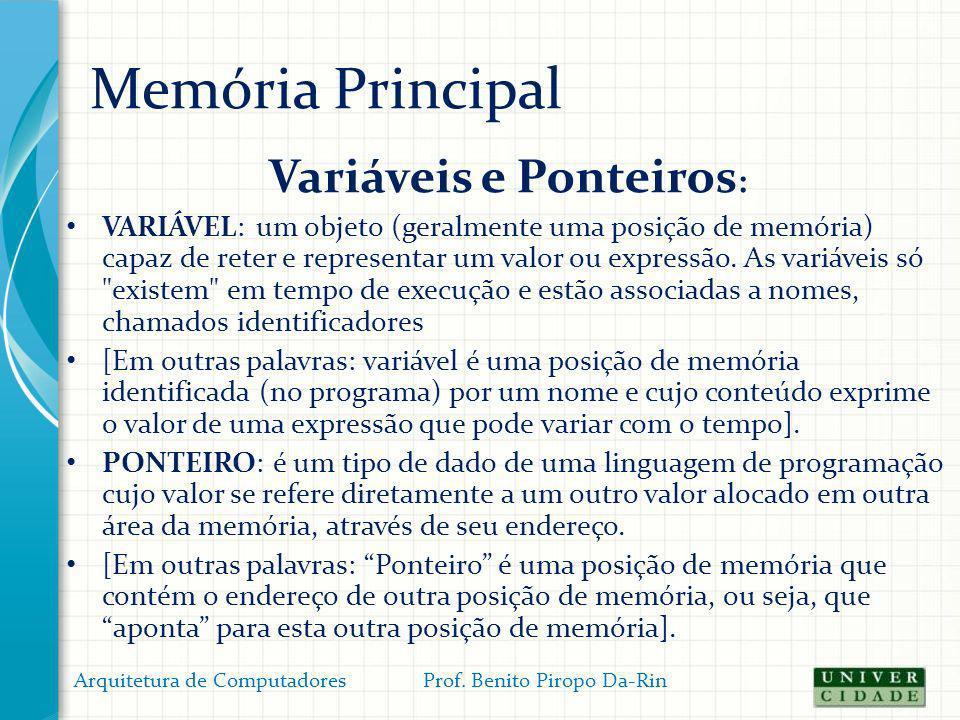 Variáveis e Ponteiros: