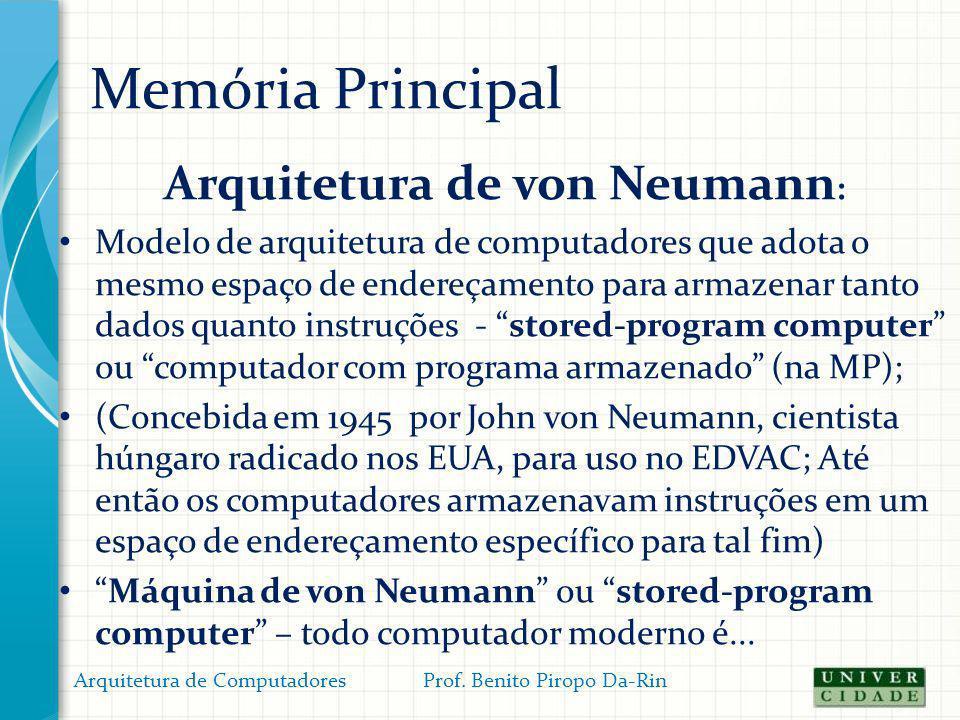 Arquitetura de von Neumann: