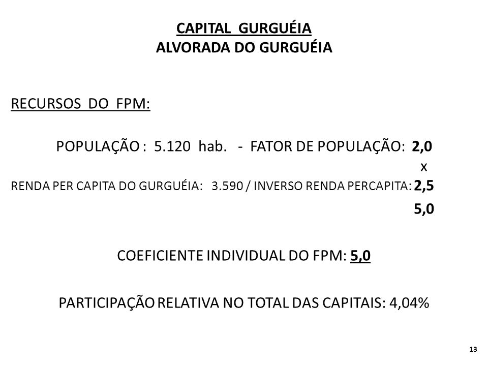 CAPITAL GURGUÉIA ALVORADA DO GURGUÉIA