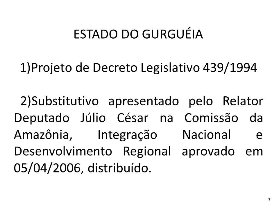 1)Projeto de Decreto Legislativo 439/1994
