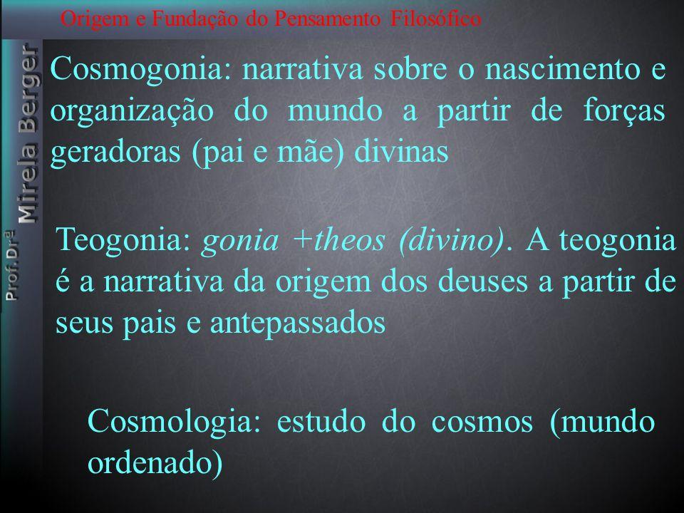 Cosmologia: estudo do cosmos (mundo ordenado)