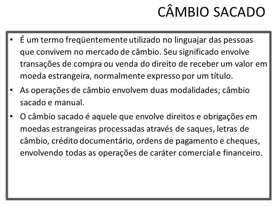 CÂMBIO SACADO