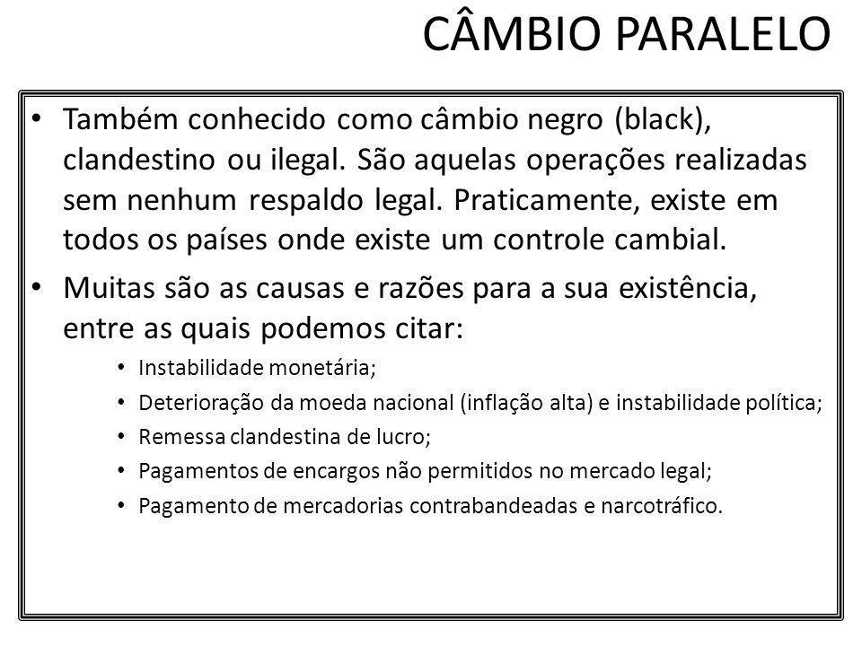 CÂMBIO PARALELO