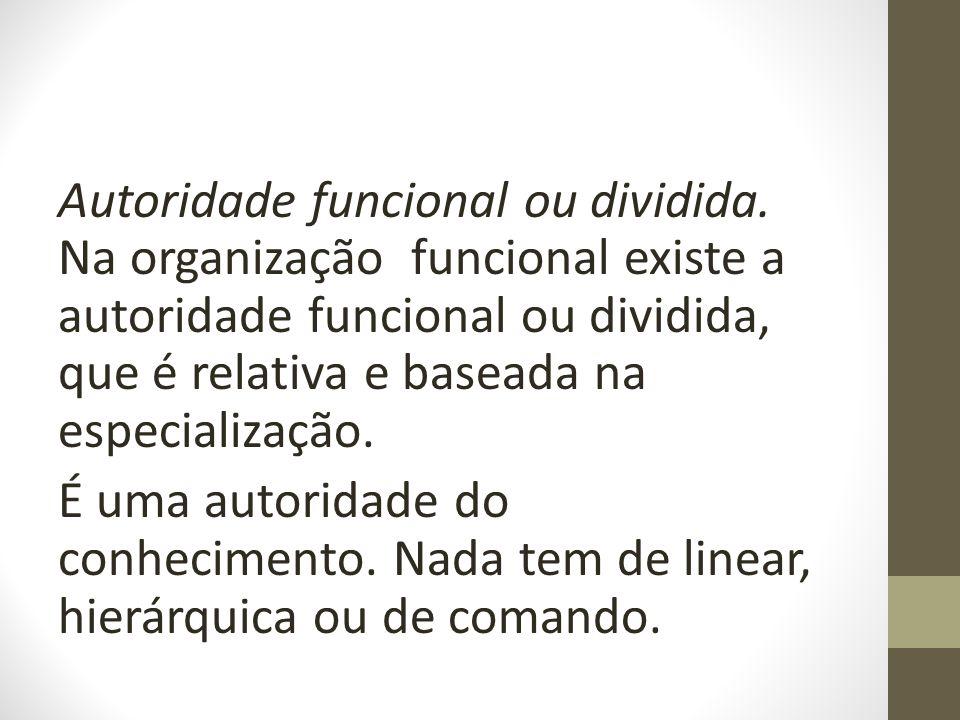 Autoridade funcional ou dividida