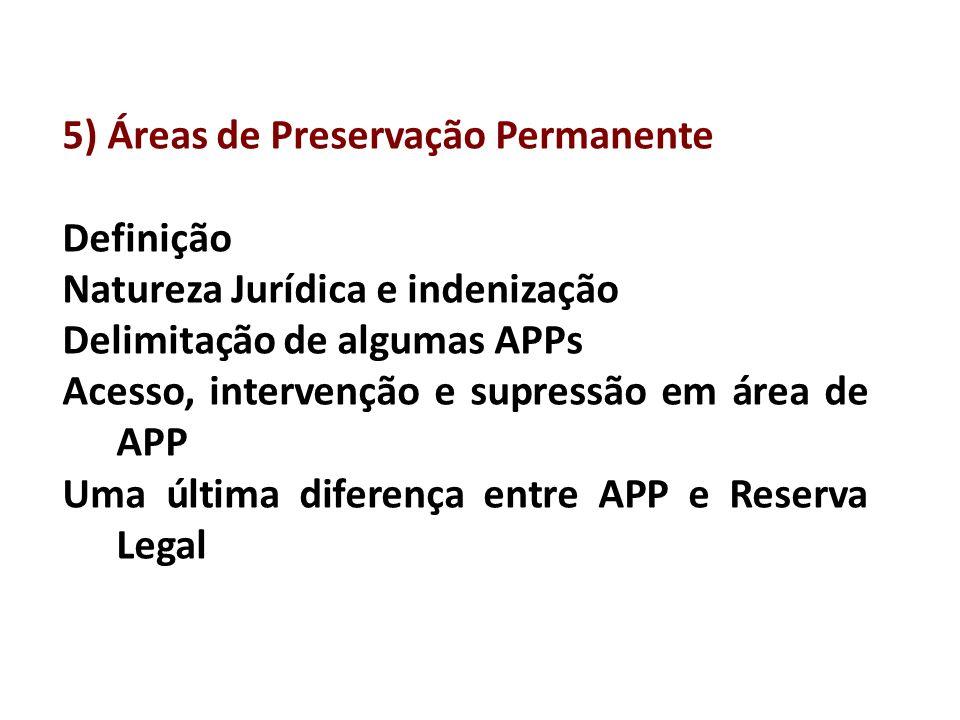 5) Áreas de Preservação Permanente